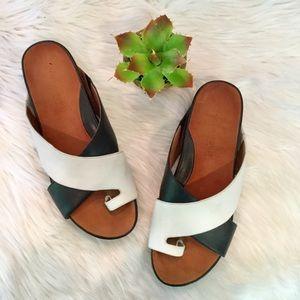 Gentle Souls Leather Slide Sandals, 11